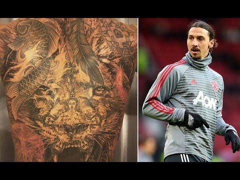 Man Utds Zlatan Ibrahimovic Shows Off Amazing Back Tattoo