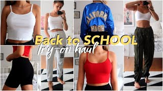 BACK TO SCHOOL TRY-ON HAUL 2018 (on a budget)