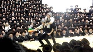 Lubavitcher Bochurem at the Satmar Rebbe