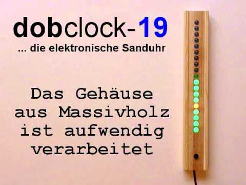 dobclock ... die elektronische LED Sauna Sanduhr
