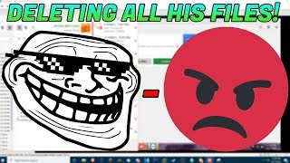 TROLLING SCAMMERS AFTER I DELETE THEIR FILES!