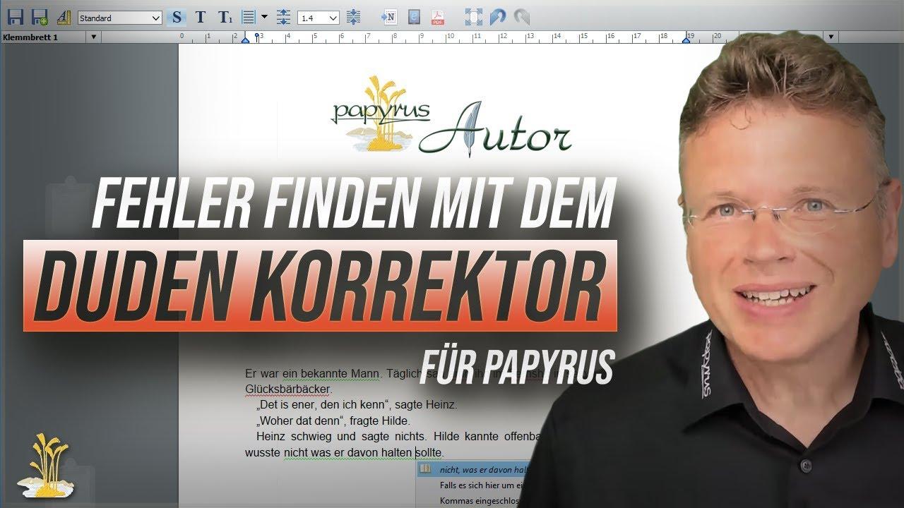 Fehlerfreie Rechtschreibung mit dem Duden Korrektor für Papyrus