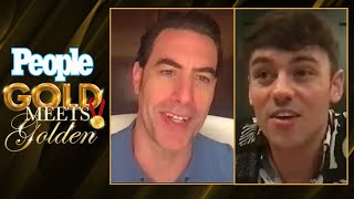 Sacha Baron Cohen Meets Tom Daley | Gold Meets Golden | PEOPLE