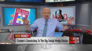 Jim Cramer reviews earnings reports of Facebook, Snap, Pinterest and Twitter