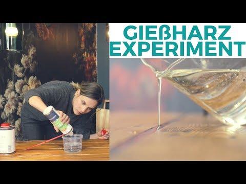 DIY Tisch mit Gießharz   Materialexperiment   Na ob das was wird!?