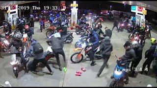 video: Watch: Halloween motorbike gang raids petrol station