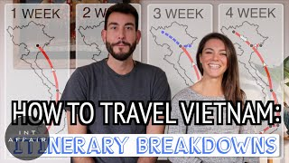 How to travel Vietnam | 1, 2, 3 & 4 Week Itinerary BREAKDOWNS