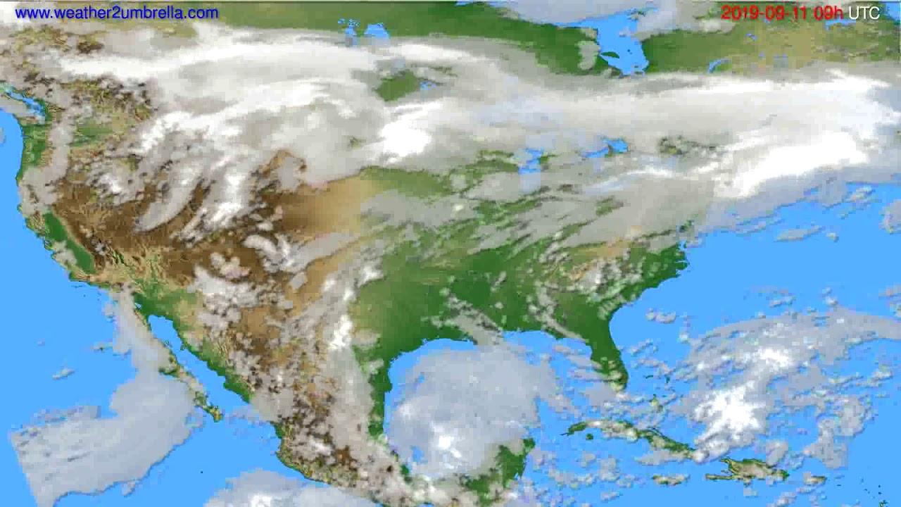 Cloud forecast USA & Canada // modelrun: 12h UTC 2019-09-09