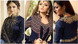So Lovely Blue Colours Combination Ideas Suits Kurti Dress || Blue Colour Contrast Combination