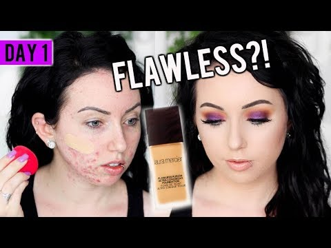 LAURA MERCIER FLAWLESS FUSION Foundation {First Impression Review & Demo!} 15 DAYS OF FOUNDATION