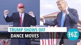 Watch: Donald Trump dances, asking people to vote in US elections