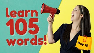 LEARN 105 ENGLISH VOCABULARY WORDS   DAY 10