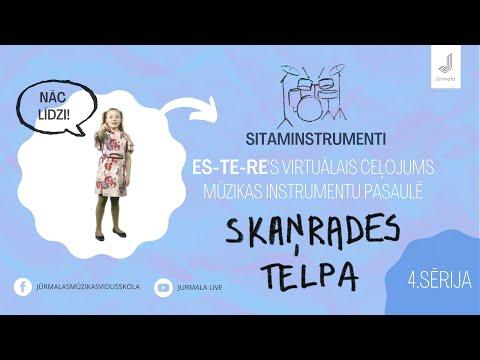 4. sērija, Esteres virtuālais ceļojums mūzikas instrumentu pasaulē SKAŅRADES TELPA – sitaminstrumenti