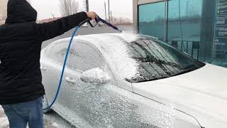 Washing dirty cars Kia Optima GT for $ 2 foam, wax, osmosis
