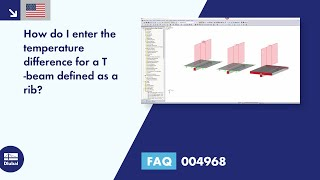 FAQ 004968 | How do I enter the temperature difference for a T -beam defined as a rib?