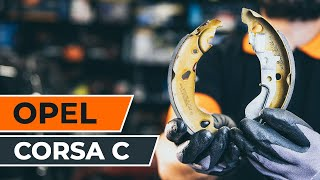 How To Replace Rear Brake Pads On OPEL CORSA C TUTORIAL | AUTODOC