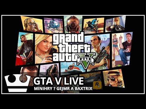 Jirka, GEJMR a Baxtrix hraje - GTA V Online - MINI HRY [ LIVE ]