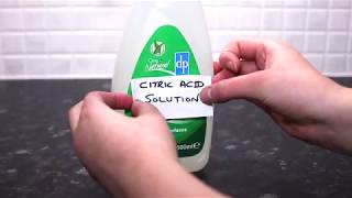 Making a 'white vinegar' substitute cleaner
