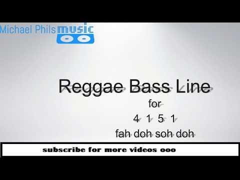 Simple reggae bass line for 4 1 5 1(fah doh soh doh) progression