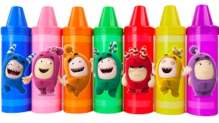Oddbods learn colors with giant crayons