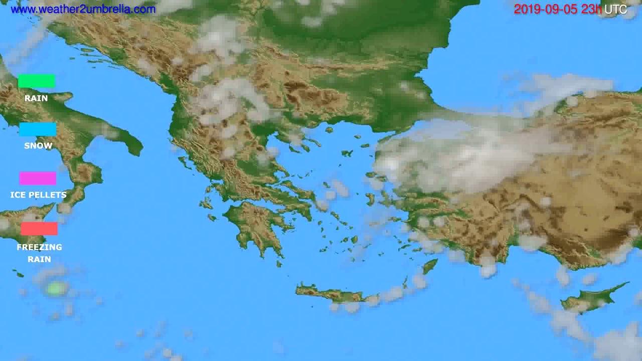 Precipitation forecast Greece // modelrun: 12h UTC 2019-09-02