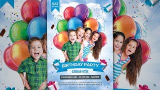 How To Design Kids Birthday Party Invitation/Flyer In Photoshop