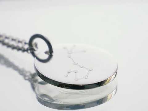 925 Sterling Silberkette mit Sternbildgravur