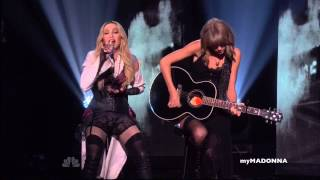 HD - Madonna and Taylor Swift Perform Ghosttown