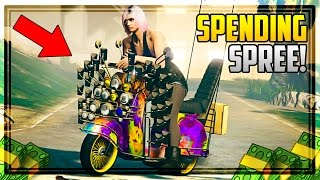 GTA 5 BIKERS DLC $100,000,000 SPENDING SPREE! BUYING ALL NEW BIKES, CLUBHOUSES & MORE