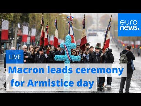 Macron leads commemoration ceremony for Armistice day   Live