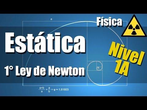 Estática Ejercicios Resueltos Nivel 1A - Primera Ley de Newton