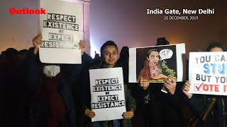 Anti Citizenship Act Protest At India Gate, New Delhi