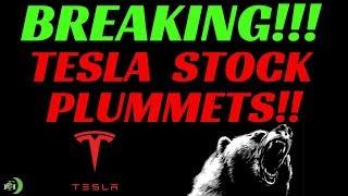 TESLA STOCK PLUMMETS!!!! | (WE ALREADY SAW THIS COMING!!!)