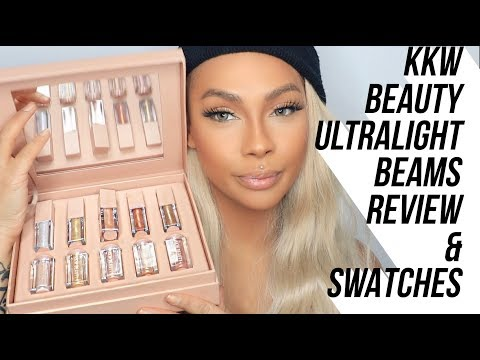 KKW BEAUTY ULTRALIGHT BEAMS REVIEW AND SWATCHES | SONJDRADELUXE