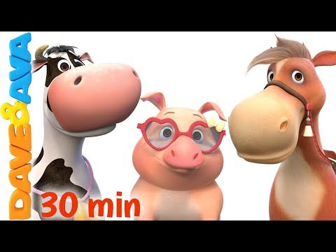 🐎 Farm Animals Song   Learn Farm Animals and Animal Sounds   Dave and Ava 🐄