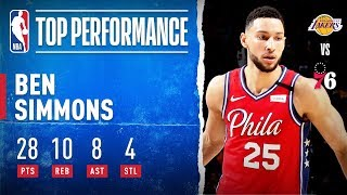 Ben Simmons SHINES In Home W!