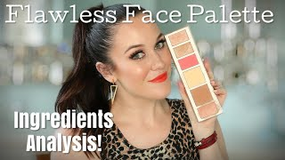 SEPHORA FLAWLESS FACE PALETTE💎⚗️💎 INGREDIENTS ANALYSIS, SWATCHES, APPLICATION + WEAR TEST