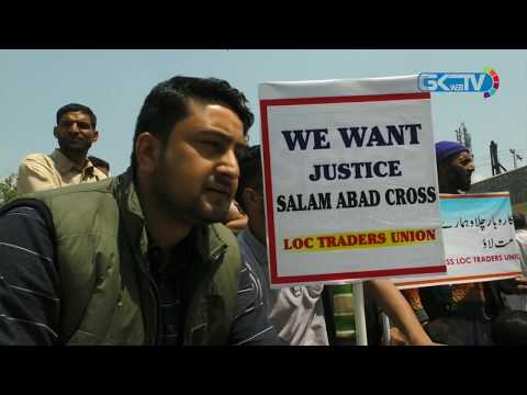 Traders' body protests in Srinagar against cross-LoC trade suspension