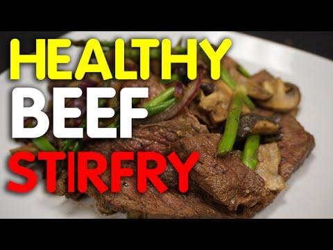 Video Keto Diet Beef Stir Fry -  beef recipes -  meat - meal prep
