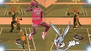 I GOT A FREE THROW LINE POSTER!!!   BUGS BUNNY BUNNIES   NBA 2K17 MyPark