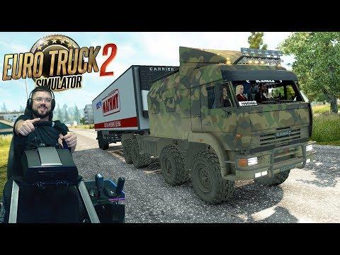 Рейс вглубь Суровой России на Якутск Euro Truck Simulator 2 + руль Fanatec CSLElite