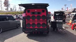 ハロースペシャル2017 大阪舞洲 デコトラ 軽トラ 旧車 大集合!!街道レーサー 外向きオーディオ