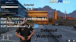 How To Install EUP Law&Order 8.1, EUP Menu 2.2.1.0, And EUP Serve&Rescue 1.3.