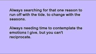 Coming Back In By Toby Lightman Lyrics!
