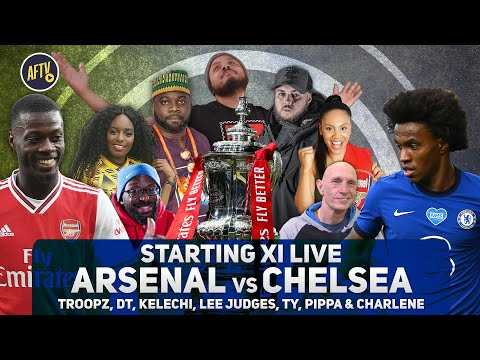 Arsenal vs Chelsea | FA Cup Final Starting XI Live