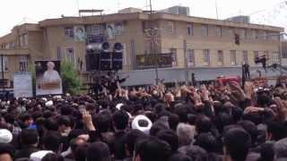 preview picture of video 'زهراي من مسيرة الفاطمية قم المقدسة شيخ وحيد ١٤٣٤ fatimiyya procession qom 1434 aza dari zahraye man'