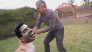 La Mordida De Luis Suarez Hacia Cesar Millan(Video ORIGINAL)-Mundial Brasil 2014