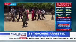 Twenty one teachers nabbed in classroom