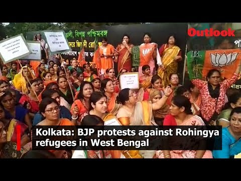 Kolkata: BJP protests against Rohingya refugees in West Bengal