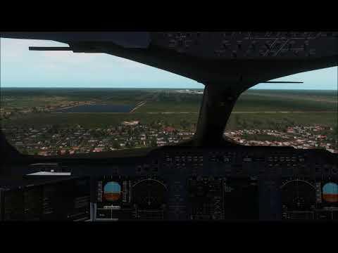 Cockpit Airbus A350-900 landing at Bangkok ++ X-Plane 11 - смотреть